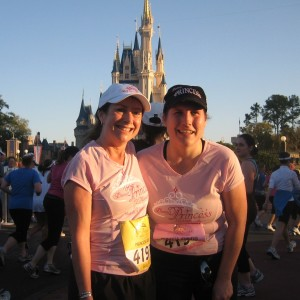 Judy and Jennifer at the 2009 Princess Half Marathon
